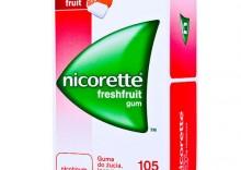 Nicorette FRESHFRUIT GUM guma do żucia - rzucanie palenia - nikotyna 4mg 105pastylek