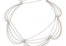 Opaska z łańcuszka srebrna