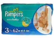 PAMPERS Pieluchy Active Baby 3 Midi 4-9 kg 62 szt