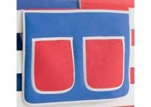 TICAA Organizer do łóżek piętrowych kolor czerwono-niebieski