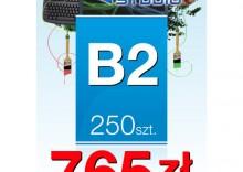 Plakaty listwowane B2 - 250 sztuk