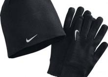 Czapka i rękawiczki do biegania - Nike Performance Set, kolor: czarny