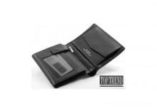 Portfel skórzany *PLATINUM Collection* W76 czarny