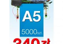 Ulotki A5 - 5000 sztuk