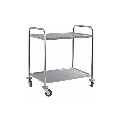 Wózek 2 półkowy ze stali nierdzewnej