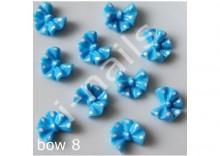 Ceramiczne ozdoby 3D kokardki w kropkibow08 blue