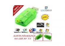 KARTA MUZYCZNA USB 3D