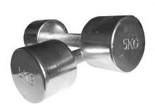 Hantle chromowane 2x5.0 kg / Dostawa w 12h / Gwarancja 24m / NEGOCJUJ CENĘ