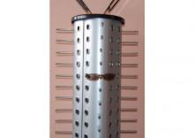 Obrotowy, okrągły stojak na okulary - w kolorze srebrnym
