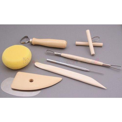 Zestaw podstawowych narzędzi ceramicznych komplet 8 sztuk