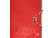 Teczka plastikowa, segregująca z 12 przekładkami Leitz Bebop. czerwony