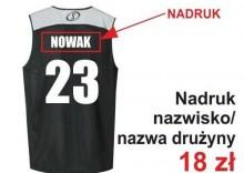Nadruki na strojach koszykarskich - Nazwisko / Nazwa drużyny