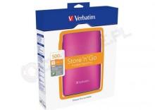 Verbatim Store n Go USB 2.0 500GB różowy