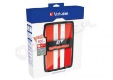 Verbatim GT 500 GB USB 2.0 czerwony/biały