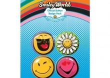 zestaw 4 przypinek SMILEY[KL-879]