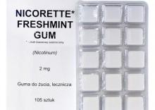 Nicorette Freshmint Gum guma do żucia lecz. 2 mg 105 szt