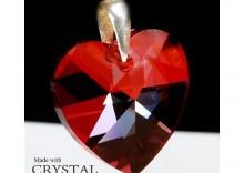 Zawieszka serce Swarovski - Heart Siam