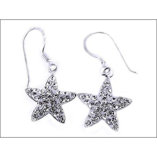 Kolczyki gwiazdki z kryształkami Swarovskiego
