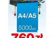 Ulotki składane A4 do A5 - 5000 sztuk
