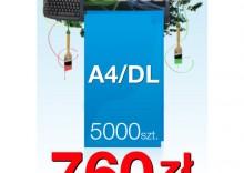Ulotki składane A4 do DL - 5000 sztuk