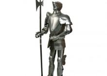 Średniowieczna zbroja + halabarda