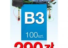 Plakaty B3 - 100 sztuk