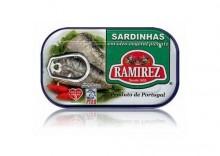 Sardynki portugalskie pikantne w oleju,125g