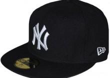 Czapka z daszkiem Full Cap NEW ERA NY - czarno-bia�a