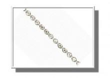 ZAA6973 | Łańcuszek KULKI 45cm szer.0,8mm Verona białe złoto 585
