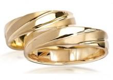 Złote Obrączki Ślubne Verona by Yes wzór 292