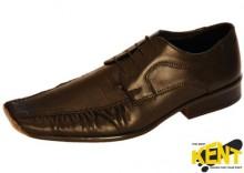 KENT 041M CZARNY KROKODYL - Eleganckie, skórzane buty