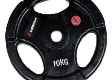 Obciążenie olimpijskie gumowane inSPORTline 10 KG
