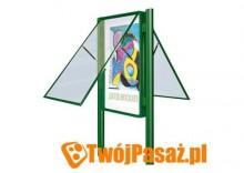 Gablota zewnętrzna dwustronna z tablicą magnetyczną 135 x 100 cm