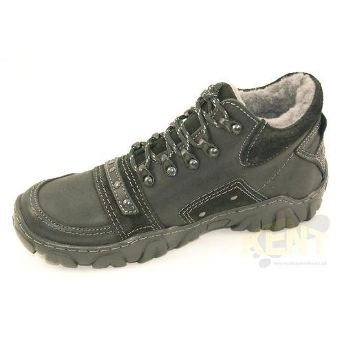 KENT 076 CZARNY - Super ciepłe, skórzane buty zimowe z naturalnym futrem