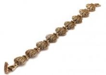 Bransoletka z markazytami - srebrne elementy w kształcie muszelek