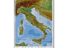W�ochy - mapa fizyczna - j. w�oski 100x140cm