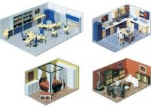 Wyposażenie wnętrza budynków w skali H0, FA