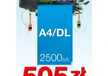 Ulotki składane A4 do DL - 2500 sztuk