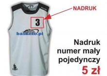 Nadruki na strojach koszykarskich - Numer mały pojedynczy