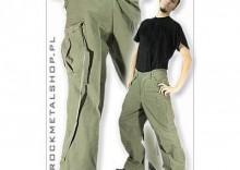 spodnie bojówki VINTAGE FATIGUES M65 WASHED - oliwkowe[SPD-043]