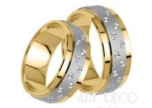 Złote Obrączki Ślubne STELMACH wzór 149