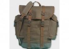 Plecak z dwoma kieszeniami bocznymi - oliwka