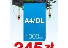 Ulotki składane A4 do DL - 1000 sztuk