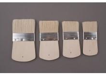 Pędzle szczecinowe krótkie płaskie komplet 4 sztuki