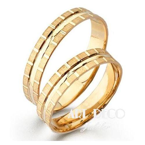 Złote Obrączki Ślubne Verona by Yes wzór 502