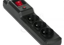 ACJ COMBO 3Gn 1m czarny - Listwa przeciwprzepięciowa- produkt DOSTĘPNY i natychmiastowa TANIA wysyłka
