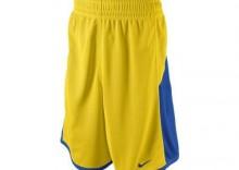 Spodenki koszykarskie dwustronne Nike Reversible żółto-niebieskie