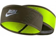 Dwustronna opaska biegowa - Nike Mens Headband, kolor: oliwkowy/fluorescencyjny żółty