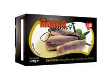 Sardynki portugalskie bez skóry i ości w oliwie 120g Manná GOURMET