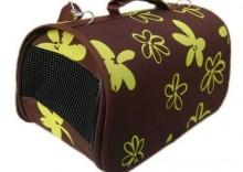 Zolux Muscat torba transportowa Flowers czekoladowo-żółta